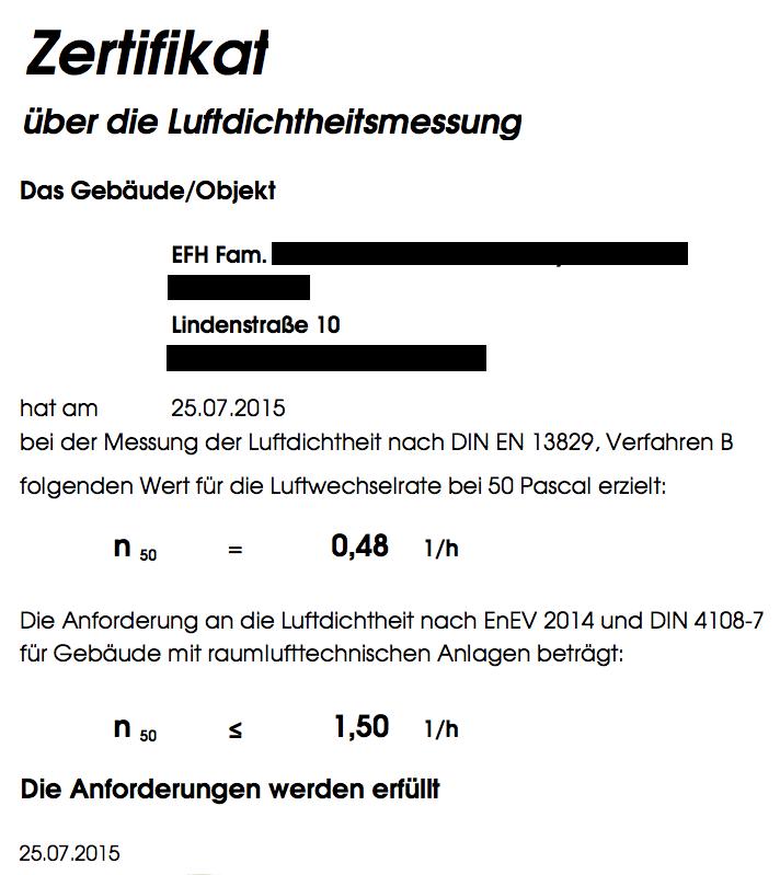 2015-07-25 Blower Door Zertifikat